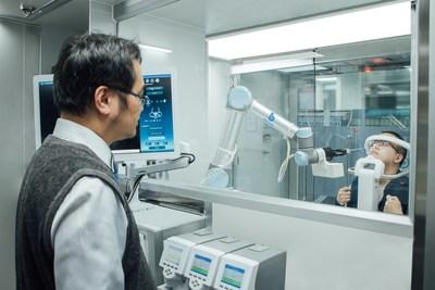 Estación médica de cero contacto para una prueba segura y rápida PCR de Covid-19