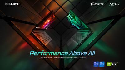 GIGABYTE lanzó nuevos portátiles con los procesadores de alto rendimiento de 11ª generación de Intel