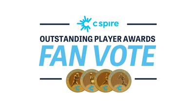 Mississippi football, baseball and basketball fans will help decide the eventual winners of the 2021 C Spire Outstanding Player Awards honoring state's top male, female college athletes