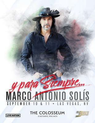 Marco Antonio Solís To Celebrate Mexican Independence Day Weekend With His Only Two U.S. Solo Shows This Year