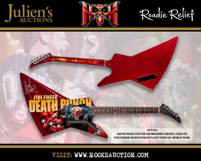 Heralded Musician/Guitarist/Songwriter Jason Hook Auctions Exclusive Guitars, Motorcycles, and Five Finger Death Punch Memorabilia to help benefit roadies and crew members