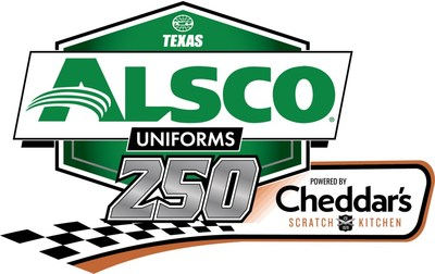 Alsco Uniforms partners with Cheddar's Scratch Kitchen for naming rights of the June NASCAR Xfinity Series race at Texas Motor Speedway