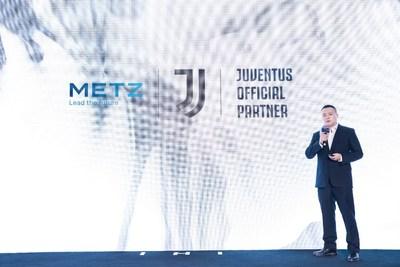 METZ blue se asocia con el club de fútbol Juventus para apoyar su plan de expansión mundial