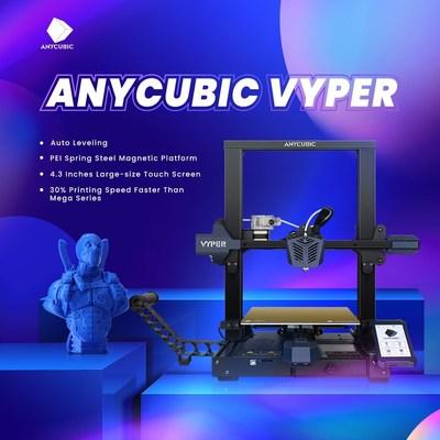 Anycubic lanza Vyper, una impresora 3D FDM con nivelación automática