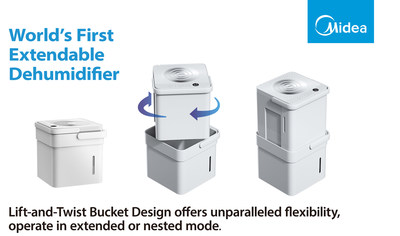 Midea Unveils The Midea Cube - The World's First Extended Dehumidifier With Lift And Twist Design