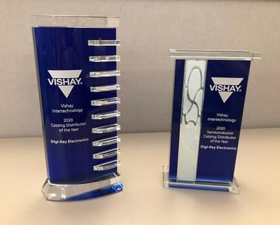 Digi-Key Electronics Named Vishay North America Catalog Distributor of the Year and Catalog Semiconductor Distributor of the Year