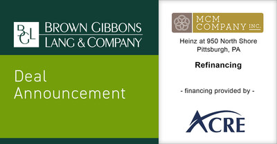 BGL Announces Refinancing of Heinz at 950 North Shore for MCM Company