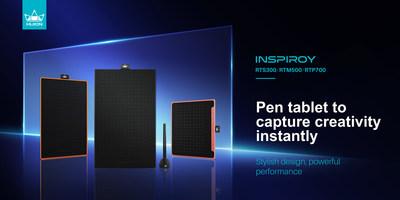 Huion presenta su nueva línea de tabletas gráficas: Inspiroy RTS-300, RTM-500 y RTP-700