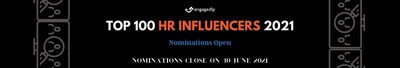 Engagedly: Nominations Open for Top 100 HR Influencers of 2021