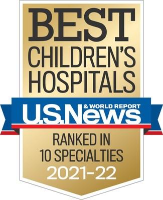 Phoenix Children's Ranked in all 10 Specialties By U.S. News & World Report's