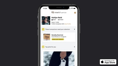 Intellifluence, Largest Warm Influencer Network, Launches iOS Influencer App