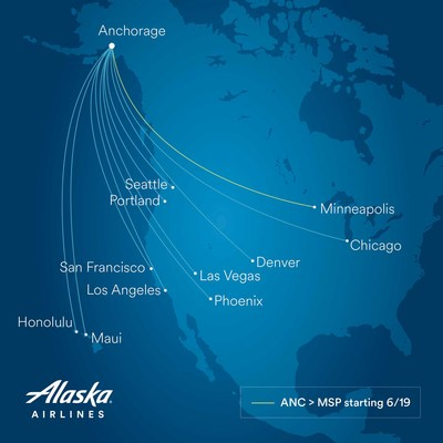 Alaska Airlines adds new nonstop from Anchorage to Minneapolis-St. Paul