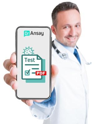 COVID-19: DrAnsay.com ya ofrece en todo el mundo certificados médicos en línea para autopruebas de antígenos
