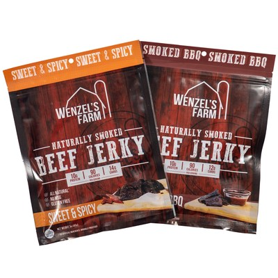 Wenzel's Farm Introduces Two New Beef Jerky Flavors - Smoked BBQ and Sweet and Spicy Add to the Popular Line of Premium Beef Snacks