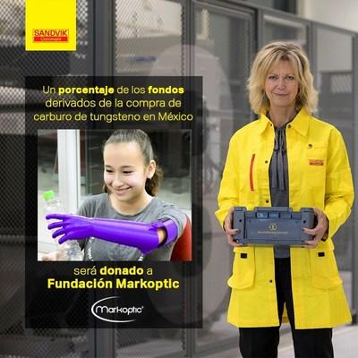 Sandvik Coromant entrega donativo a Fundación Markoptic para continuar apoyando el desarrollo y donación de prótesis